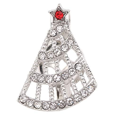8pcs Enamel Diamond Pearl Cage Jewelry Making Supplies Rhodium Plated Bead Cage Pendant - Add Your Own Pearls, Stones, Rock to Cage,Add Perfume Essential Oils to Cage (Christmas Tree)