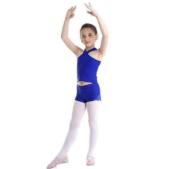 ranrann Maillot de Danza Ballet para Niña Leotardo de ...