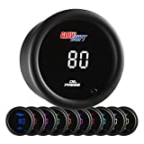 GlowShift 10 Color Digital 145 PSI Oil Pressure
