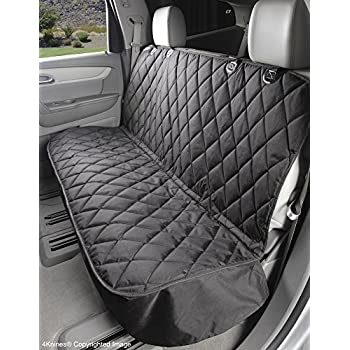 Dog Seat Cover Without Hammock for Cars, Trucks and SUVs - USA Based Company - Black, Tan, Grey (Regular, Black)