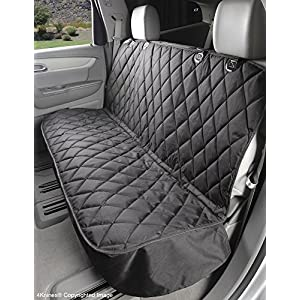 4Knines Dog Seat Cover Without Hammock for Cars, SUVs, and Small Trucks (Black) 57