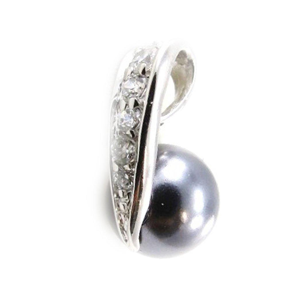 Pendant silver Sissi gray.
