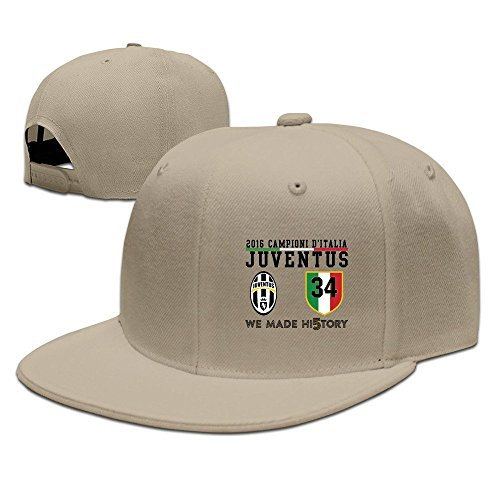 e8c165363c8 HmkoLo Juventus Cotton Flat Bill Baseball Cap Snapback Hat Unisex Natural -  Buy Online in UAE.