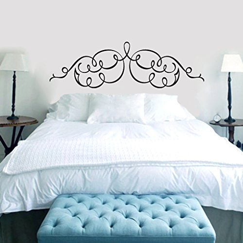 Scroll Headboard  Wall Decals Home Décor Idea