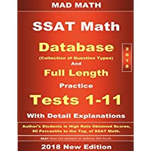 2018 SSAT Database and 11 Tests