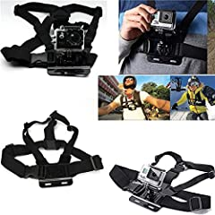 Adjustable Model B Body Harness Chest Belt Strap Mount For SJ4000 Gopro Hero 2 3 4 3 Plus Feature: Color: Black Main Material: ABS Plastic Keep your GoPro attached to your chest, easy to capture immersive video and photo footage Perfect for s...
