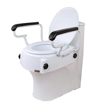 Miraculous Amazon Com Mz Soft Toilet Seat Riser With Handles Raised Uwap Interior Chair Design Uwaporg