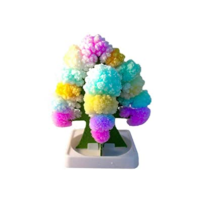 Klions Crystal Growing Home Desktop Green Garden – Magic Colorful Paper Tree Decoration for Valentine's Day, Interesting Science Learning Education Kit Gift for Kids, Boys and Girls: Jewelry