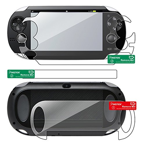 Insten 2 packs of Reusable Screen Protectors Compatible With Sony PlayStation Vita PCH-1000 (PS Vita) (Psp Umd Holder)