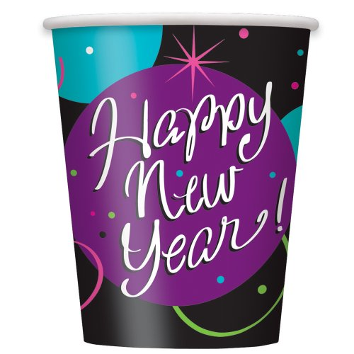9oz Stellar New Years Party Cups, 8ct
