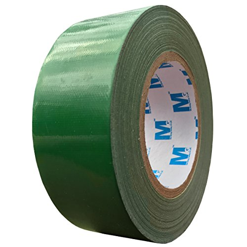 MG888 Grass Green Colored Duct Tape 1.88 Inches x 60 Yards (Available in Red, Yellow, Gray, Blue, Black, White) Heavy Duty Tape for Repairs, DIY, Crafts, Indoor Outdoor Use, Multi-Purpose, Waterproof