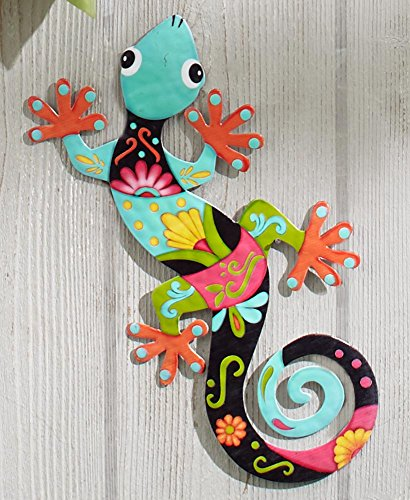 The Lakeside Collection Colorful Metal Garden Wall Hanging- Gecko/Lizard by The Lakeside Collection