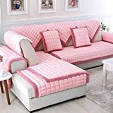 Combination Solid Warm Plush Seat Sofa Covers for Home Living Room Decorative Slip Resistant Sofa Slipcover Couch Cover(Pillow Case 18 X 18 Inch)