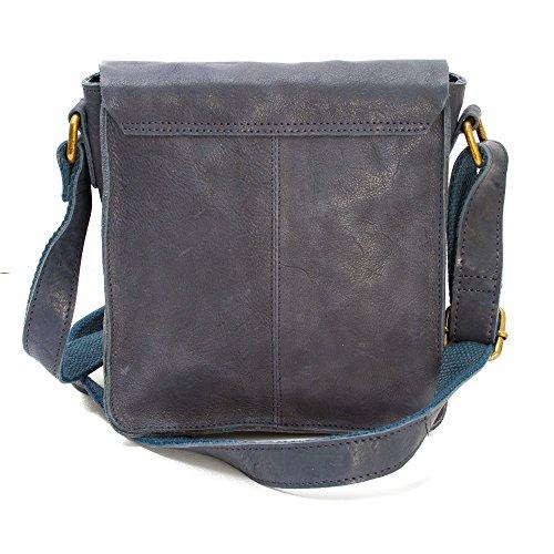 Premium Leather, Borsa a spalla donna Blu Blu navy
