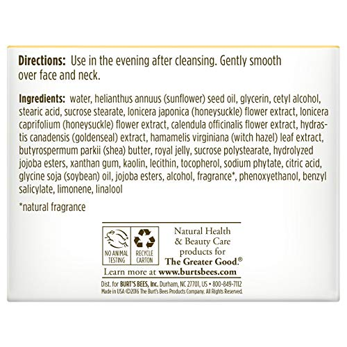 Burt's Bees Skin Night for to Combination 1.8 Ounces