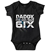 Brisco Brands Got Your Six Dad Baby Shirt Cute Funny Cool Newborn Gift Idea Romper Bodysuit