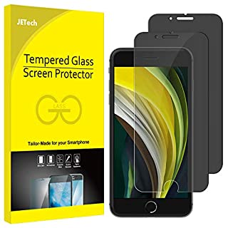 JETech Privacy Screen Protector for Apple iPhone SE 2nd Generation, iPhone 8 and iPhone 7, Anti-Spy Tempered Glass Film, 2-Pack