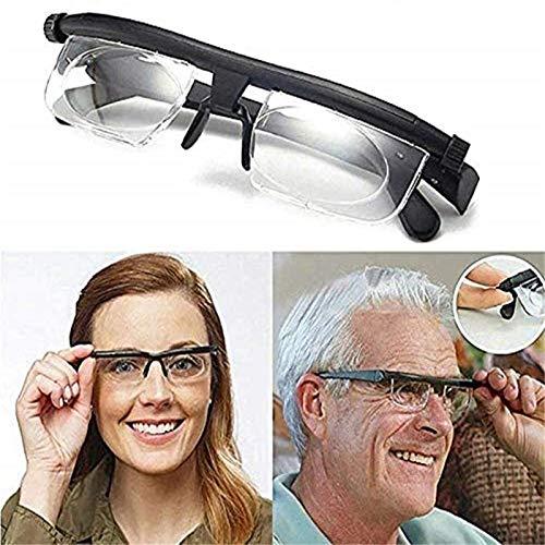 Adjustable Reading Glasses Myopia Eyeglasses,Dial Adjustable Glasses Variable Focus,for Reading Nearsighted Farsighted…