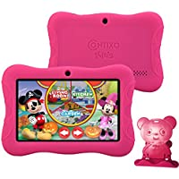 Contixo Kids Safe 7' Quad-Core Tablet 8GB, Bluetooth, Wi-Fi, Cameras, 20+ Free Games, HD Edition w/ Kids-Place Parental Control, Kid-Proof Case (Pink)