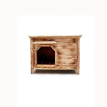 Lijin light Pequeño sin Puerta sin Ventana Exterior Interior Plano Superior casa de Perro de carbón casa de Perro Arena Arena de Gato: Amazon.es: Hogar
