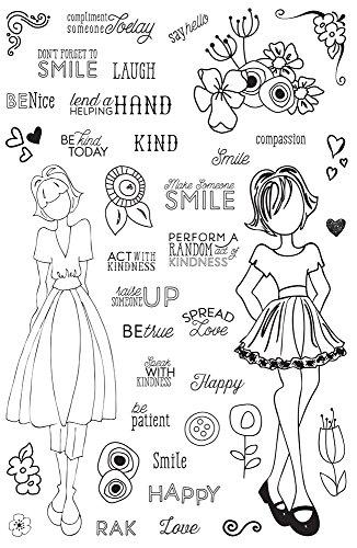 Clear Prima Stamps (Prima Marketing 655350911690 Julie Nutting Planner Clear Stamps Jn Planner Clear Stamps- Make Kindness Happen)