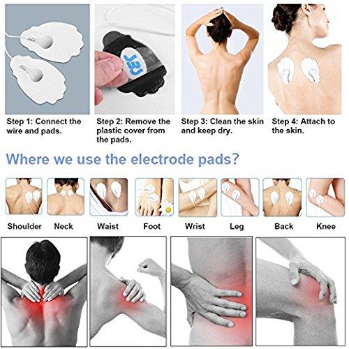 ARINO Tens Unit Electronic Tens Electrodes Machine Pulse Massage Pain Relief Tens FDA Cleared 16 Modes Rechargeable (12pcs Eletrode Pads)