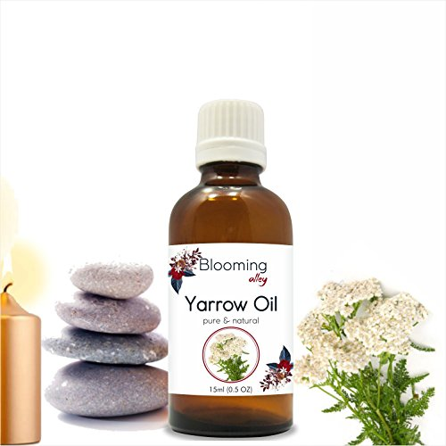 (Yarrow Oil 100% Natural Pure Undiluted Uncut Essential Oil by Blooming Alley (15ml))