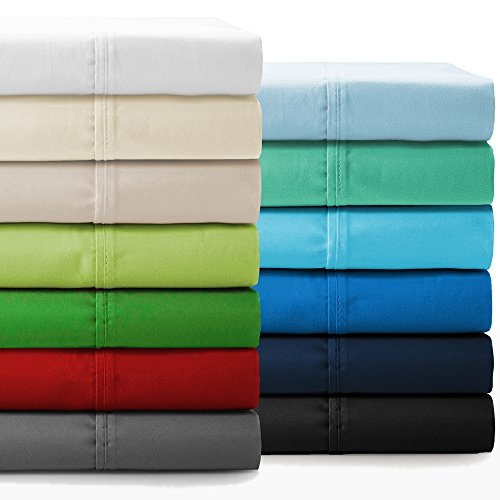 Bare Home Premium 1800 Ultra-Soft Microfiber Collection Sheet Set - Double Brushed - Hypoallergenic - Wrinkle Resistant - Deep Pocket (King, Light Grey) by Bare Home (Image #9)