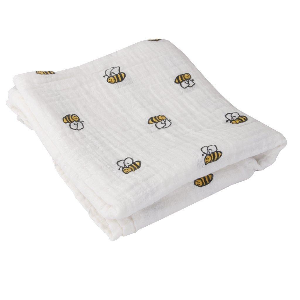 Primi 1pieza abeja patrón transpirable algodón gasa Manta de verano para bebé