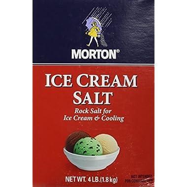 Morton Ice Cream Salt 4lb box