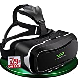 Tromso VR headset ( VR goggles / VR glasses )/ Virtual Reality headset for iPhone 7 , 6 , 5 , iPhone Plus & Android ( Samsung Galaxy , Google , HTC , & LG ...) mobiles , best for 3D games and movies