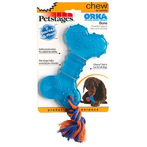 Orka Bone Rubber Chew and Fetch Toy for Dogs, Dog Chew Toy by Petstages (Orka Chew)