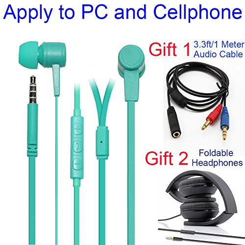 2018 Long Cable Headphones with Microphone for Computer
