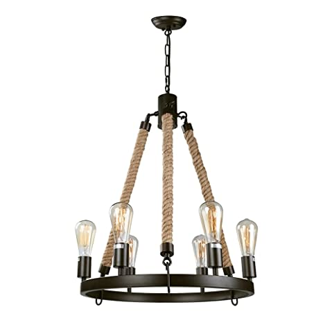 LNC Vintage Chandeliers 6Light Chandelier Lighting Rustic Pendant