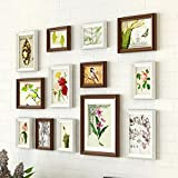 ZYANZ Irregular Wood Combination Photo Frame, Rectangular (13 Packages), Estimated Area Of 80 × 60cm