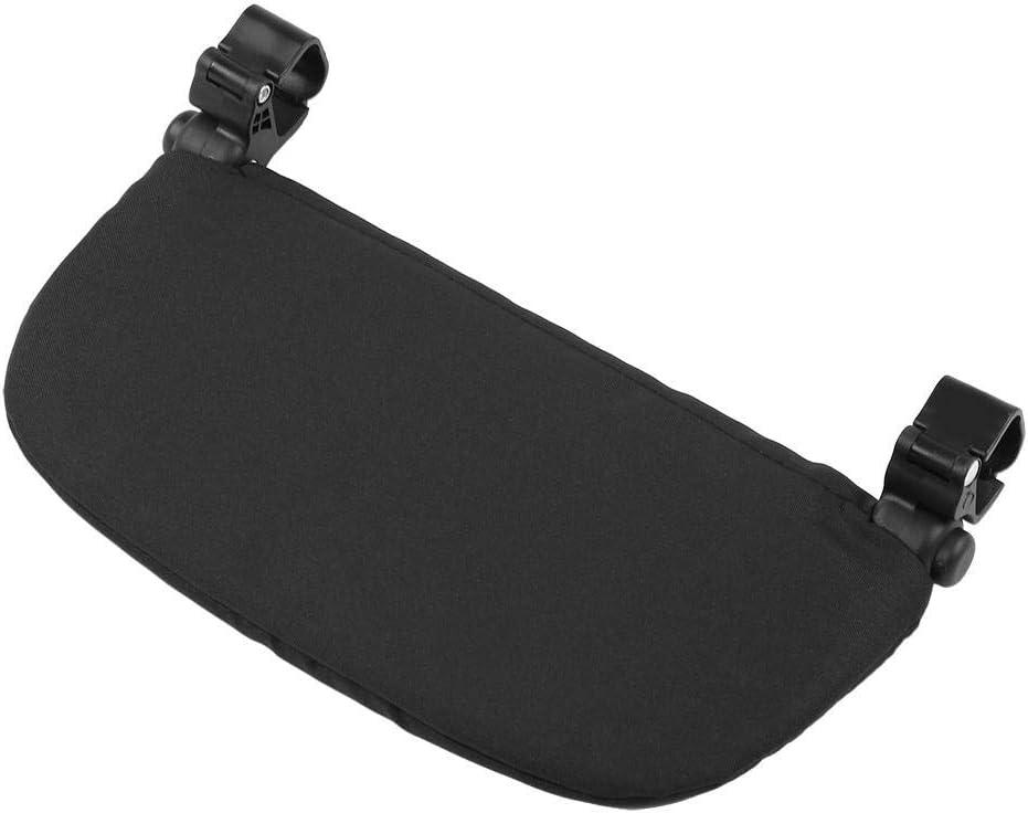 Negro 14cm Soporte para el cochecito del beb/é Reposapi/és reposapi/és universal Pedal del asiento extendido Soporte para el pie Accesorios para el reposapi/és del cochecito