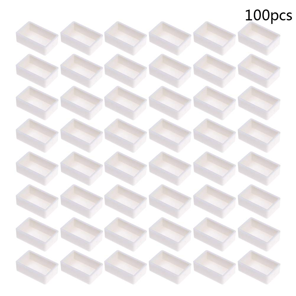 SmiDay Empty Watercolor Paint Pans - 100 Pcs Full Pans Stand High