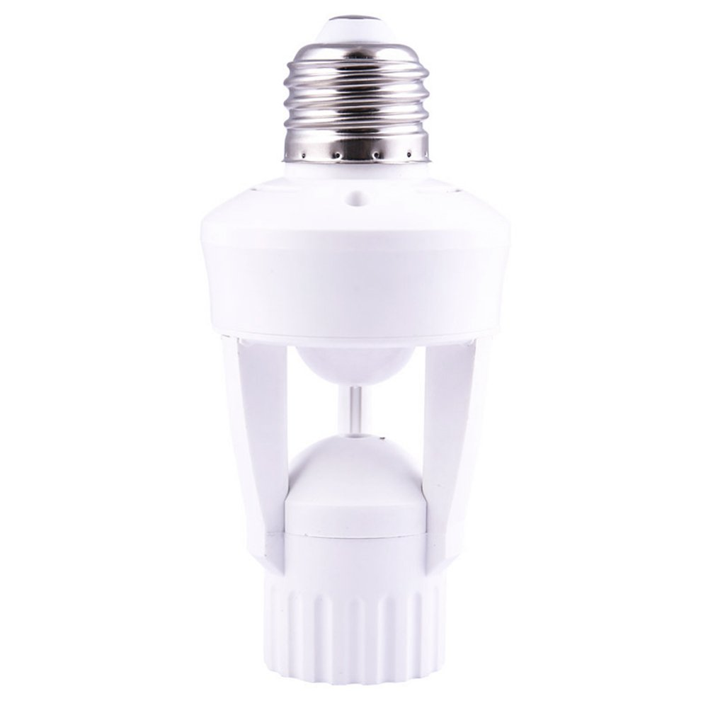 ElementDigital E27 Lamp Holder Motion Sensor Light Holder 360° PIR Bulb Holder Motion Activated Human Infrared Sensor Human Body Induction Alarm Light Socket Home Safety Security
