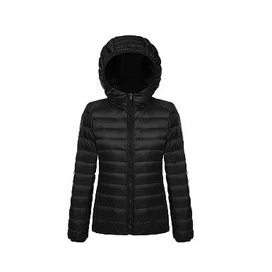 78f68e8df Women's Ultra Lightweight Short Hooded Down Jacket Puffer Coat