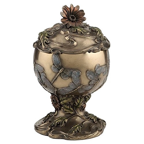 XoticBrands 6 Inch Dragonfly Cremation Urn-Cold Cast Bronze