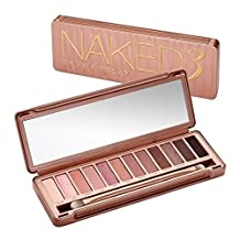 Urban Decay Naked 3 Eyeshadow Palette: 12x Eyeshadow, 1x Doubled Ended Shadow Blending Brush -
