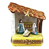 SMALL NATIVITY - LIMOGES PORCELAIN FIGURINE BOXES AUTHENTIC IMPORTS