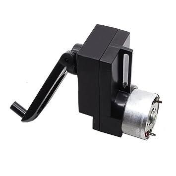 generator motor. Qianson 4W Hand Crank DC Power Generator Gear Motor Dynamo Held 100-300mA