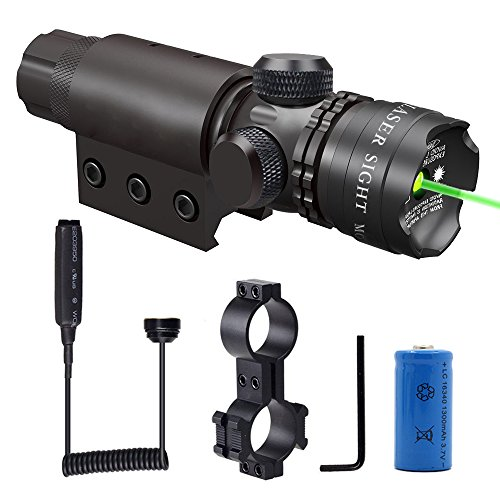 Shockproof-532nm-Tactical-Green-Dot-Laser-Sight-Rifle-Gun-Scope-Rail-and-Barrel-Mounts-Cap-Pressure-Switch