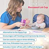 Talktools Recessed Lid Cup with Handles - 2 Lids