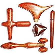 Set 5 Pcs. Reflexology Thai Massage Wooden Stick Hand & Foot Massage Tool Massager Red Wood