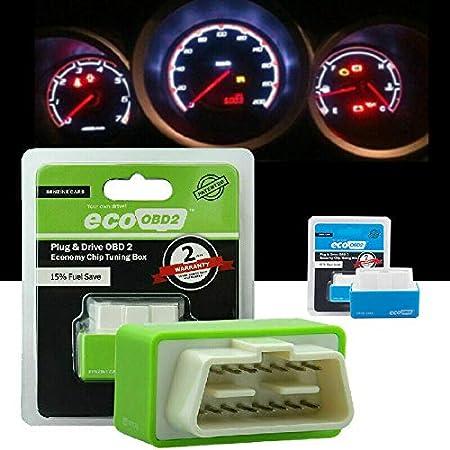 Green, Voitures de benzine mod/èle 1996 Nitro OBD2 Plug /& Drive ECO OBD2 Economisez 15/% Carburant adaptateur OBD2 tout usage Bo/îtier de r/églage de la performance NitroOBD2