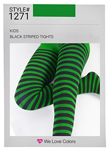Kid's Black Striped Tights in 20 Color Combos and 4 sizes! -