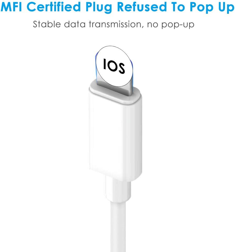 Headphone Adapter for iPhone Dongle Connection 3.5mm Jack AUX Audio Cable Headphones for iPhone 11//11 Pro Max//X//XS//XR//8//8P//7P//7 Accessories Cable Splitter Music for Earphones Support All iOS 2 PACK
