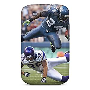 Anti-scratch Case Cover E-Lineage Protective Marshawn Lynch Flying On Field Case For Galaxy S3